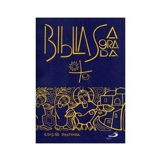 BIBLIA SAGRADA PASTORAL - MEDIA CAPA CRISTAL - PAULUS - ED ANTIGA