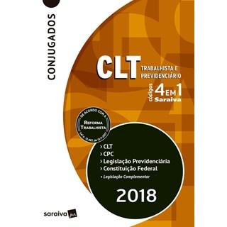 CODIGO 4 EM 1 - CLT LEGISLACAO PREVIDENCIARIA CPC E CONSTITUICAO FEDERAL - SARAIVA
