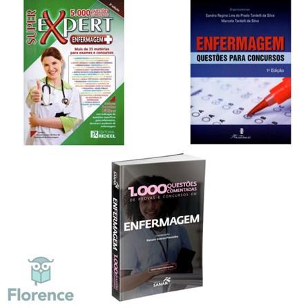 Combo Livros de Enfermagem para Concursos 1