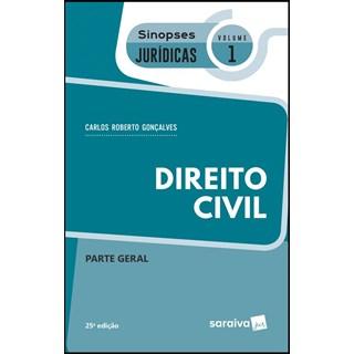 DIREITO CIVIL - PARTE GERAL - VOL 1 - SINOPSES JURIDICAS - SARAIVA