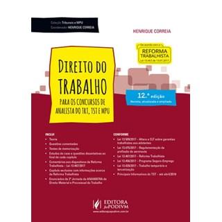 DIREITO DO TRABALHO PARA OS CONCURSOS DE ANALISTA DO TRT E MPU - JUSPODIVM