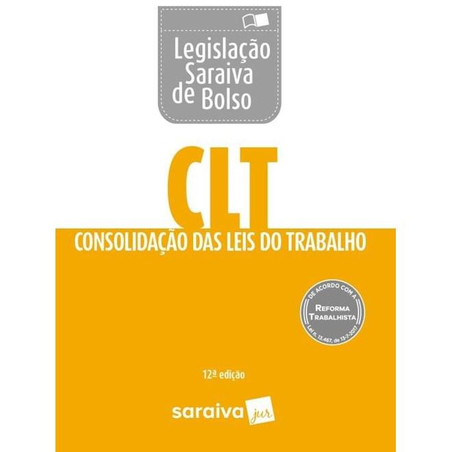 LEGISLACAO SARAIVA DE BOLSO - CLT - SARAIVA