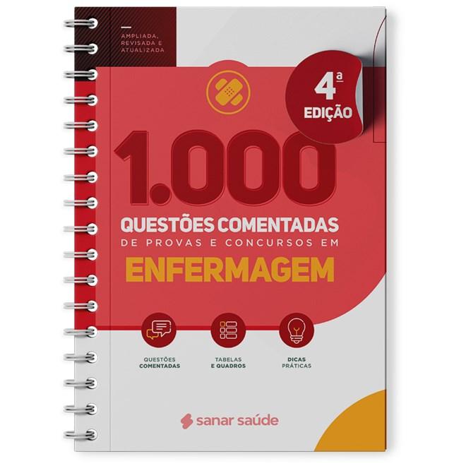 Livro 1.000 Questões Comentadas de Provas e Concursos em Enfermagem - Sanar