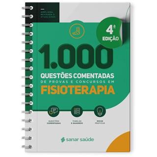 Livro 1.000 Questões Comentadas de Provas e Concursos em Fisioterapia 2021 - Sanar