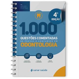 Livro 1.000 Questões Comentadas de Provas e Concursos em Odontologia - Sanar