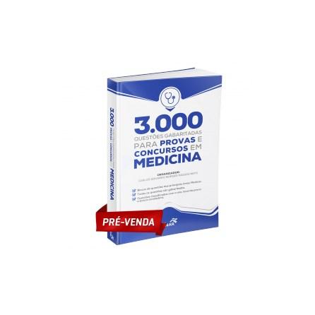 Livro - 3.000 Questões Gabaritadas para Provas e Concursos em Medicina