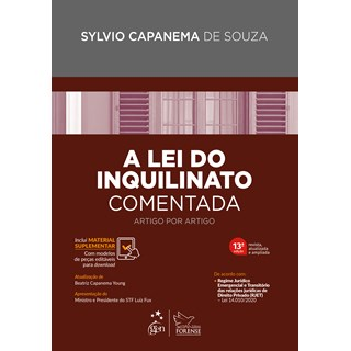 Livro A Lei do Inquilinato Comentada - Souza - Forense