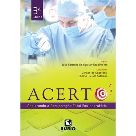 Livro - Acerto - Acelerando a Recuperação Total Pós-Operatória - Aguilar-Nascimento