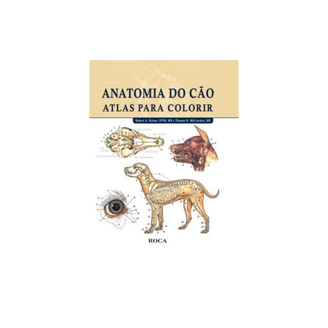 Livro - Anatomia do Cão: Atlas para Colorir - Kainer