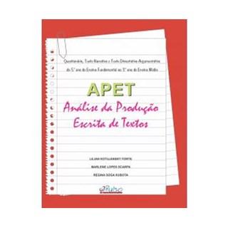 Livro - APET - Análise da Produção Escrita de Textos - Forte
