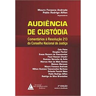 Livro - Audiência de Custódia -Comentários à Resolução nº 213 do Conselho Nacional de Justiça - Andrade