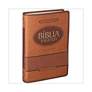 Livro - Bíblia Sagrada - Letra Gigante - Capa Marrom Claro