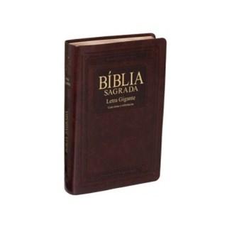 Livro - Bíblia Sagrada - Letra Gigante - Capa Marrom - SBB