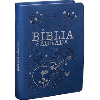 Livro - Bíblia Sagrada Letra Grande - Capa Azul -
