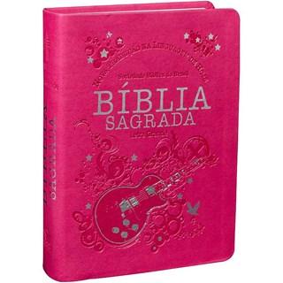 Livro - Bíblia Sagrada Letra Grande - Capa Pink - SBB