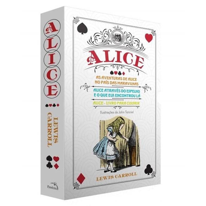 Livro Box Alice No País Das Maravilhas - Carroll - Pandorga