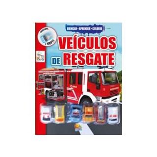 Livro - Brincar-aprender-colorir: Veículos de resgate - Edicart