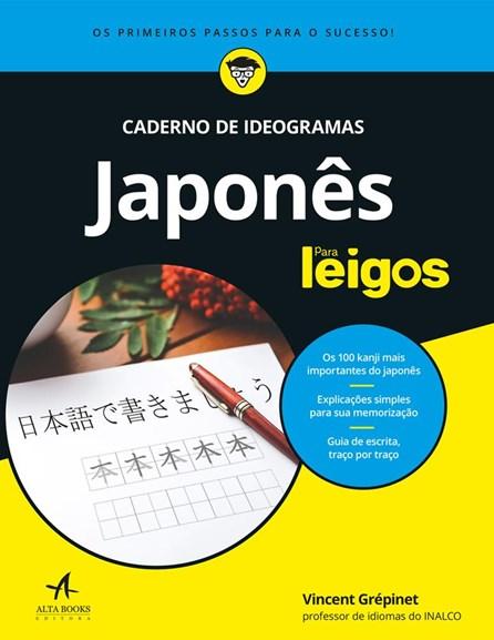 Livro - Caderno de Ideogramas Japonês - Para Leigos - Grépimet