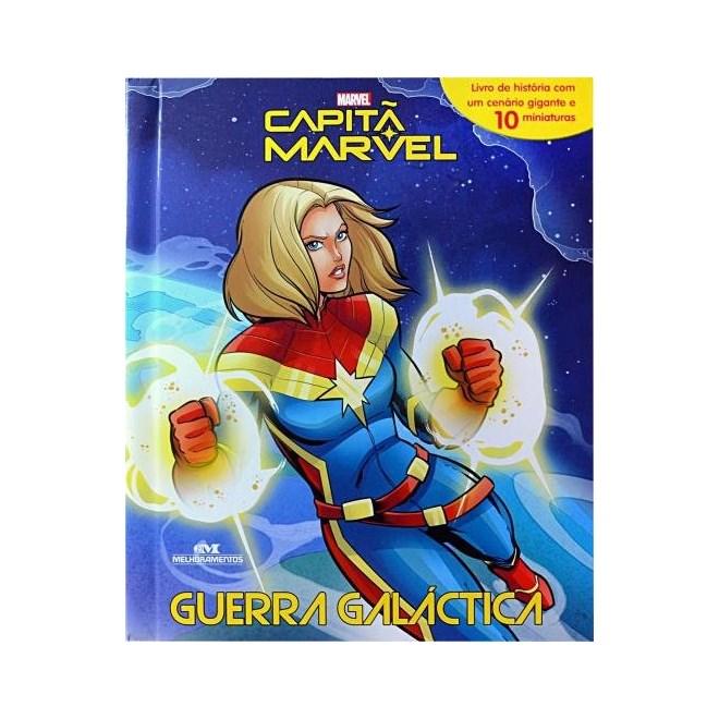 Livro - Capitã Marvel: Guerra Galáctica - Livro + Cenário + Miniaturas+
