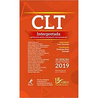 Livro - Clt Interpretadal. Artigo Por Artigo, Parágrafo Por Parágrafo - 10ª Edição 2019