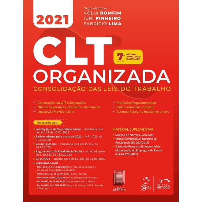 Livro CLT Organizada - Cassar - Método