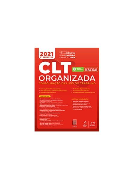 Livro - CLT Organizada - Consolidação das Leis do Trabalho - Cassar