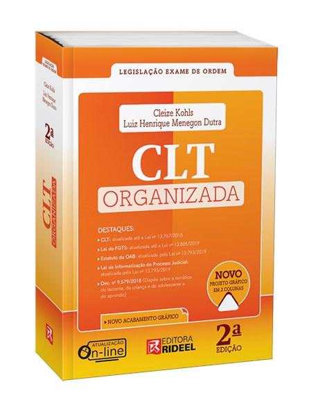 Livro - CLT Organizada - Legislação Exame de Ordem - Kohls