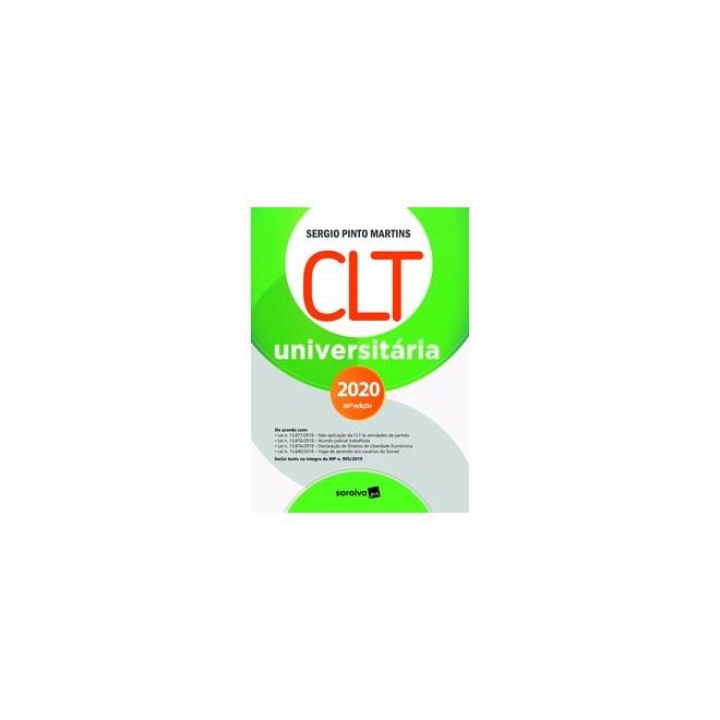 Livro - CLT Universitária - 26ª Edição - 2020 - Martins 26º edição
