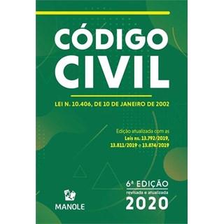 Livro - Código Civil 6ª edição - 2020 - Manole