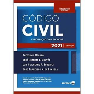 Livro - Código Civil e Legislação Civil em Vigor - 38ª Edição 2020 - Negrao 38º edição