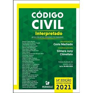 Livro - Código Civil Interpretado - Artigo por Artigo, Parágrafo por Parágrafo - Machado - Manole