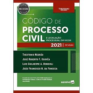 Livro Código de Processo Civil e Legislação Processual em Vigor 52º Ed. Negrão - Saraiva