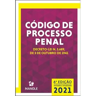 Livro Código de Processo Penal 2021 - Manole