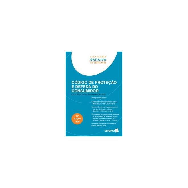 Livro - Código de Proteção e Defesa do Consumidor - Coleção Saraiva de Legislação - Editora Saraiva