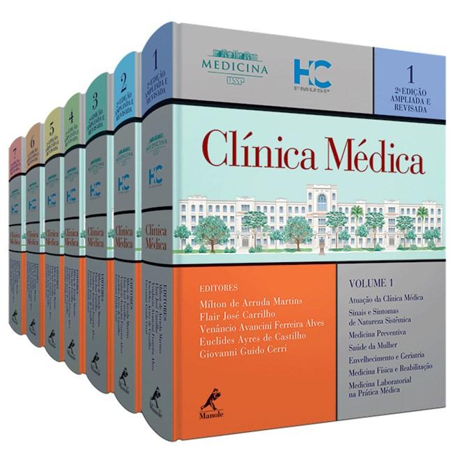 Livro - Coleção Clínica Médica - 7 volumes Combo - FMUSP - 2a. edição
