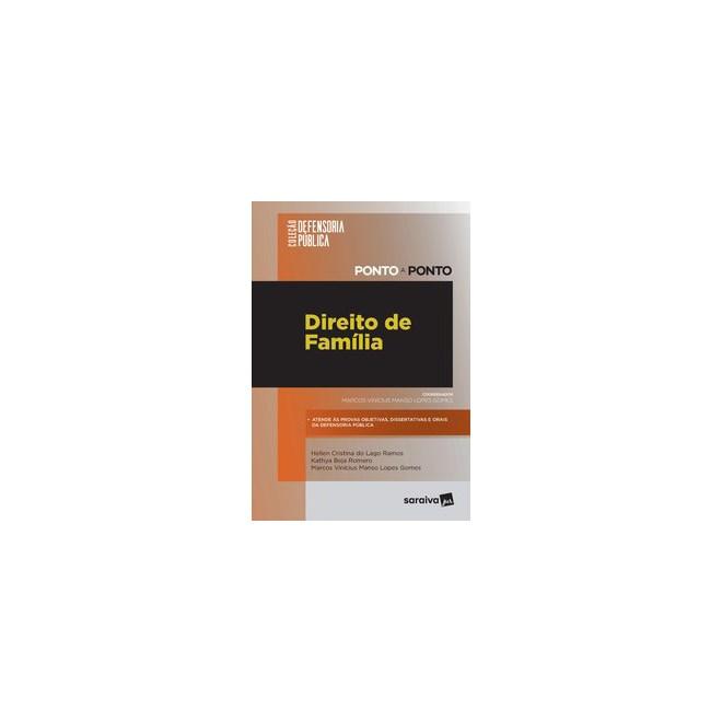 Livro - Coleção Defensoria Pública - Ponto a Ponto - Direito de Família - Ramos 1º edição
