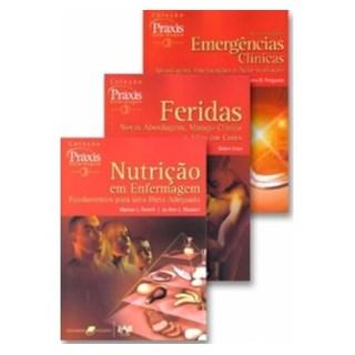 Livro - Coleção Praxis Enfermagem 3 - Combo - Feridas, Emergências Clínicas e Nutrição#