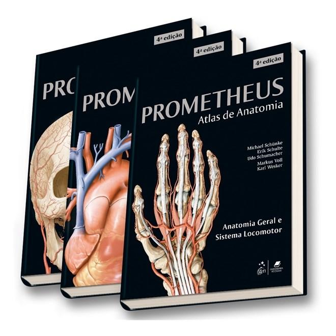 Livro - Coleção Prometheus - Atlas de Anatomia - 3 volumes - Schünke