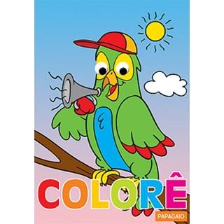 Livro - Colore - Papagaio - Libbris
