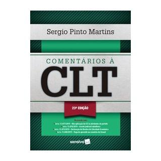 Livro - Comentários à CLT - 23ª Edição 2020 - Martins 20º edição