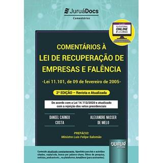 Livro Comentários à Lei de Recuperação de Empresas e Falência - Costa - Juruá