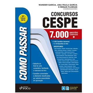 Livro - Como Passar - Concursos Cespe  - Garcia