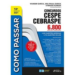 Livro - COMO PASSAR EM CONCURSOS CESPE / CEBRASPE - 6.600 QUESTÕES COMENTADAS - Satin 9º edição