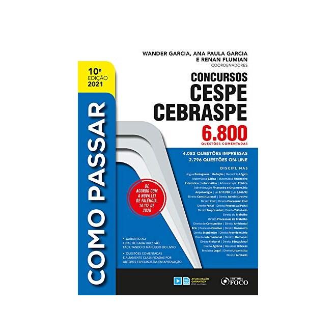Livro Como Passar em Concursos Cespe / Cebraspe - Satin - Foco