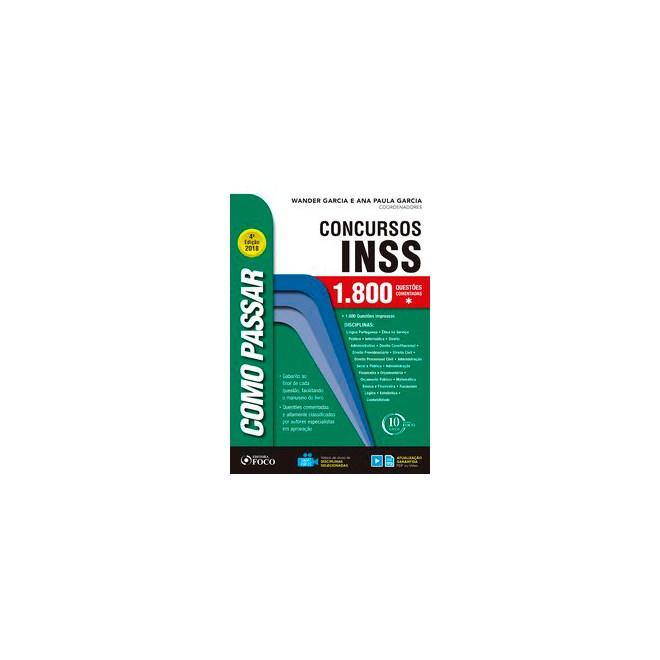 Livro - Como passar em concursos do INSS - 1.800 questões comentadas - 4 ª edição - Fioravanti 4º ed