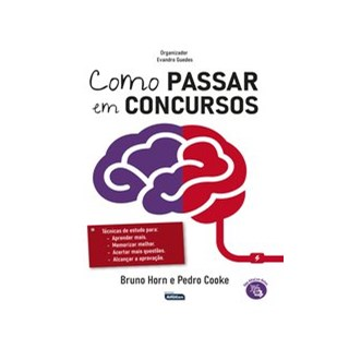 Livro - COMO PASSAR EM CONCURSOS - Horn 1º edição
