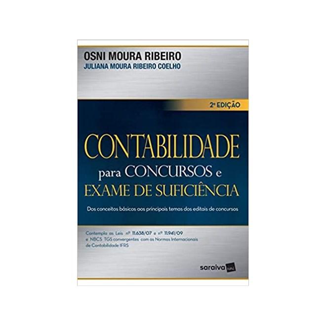 Livro - Contabilidade Para Concursos e Exame de Suficiência - Ribeiro - Saraiva