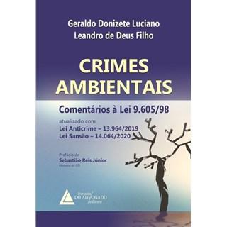 Livro Crimes Ambientais Comentários à Lei 9.605/98 - Luciano - Livraria do Advogado