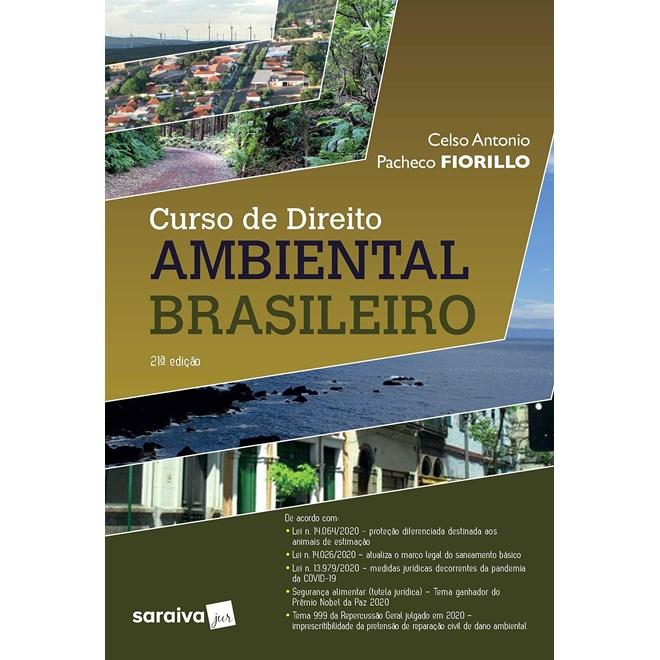 Livro - Curso de Direito Ambiental Brasileiro - 20ª edição de 2020 - Fiorillo 20º edição