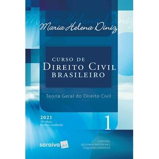 Livro Curso de Direito Civil Brasileiro Vol.1 - 2021 - Saraiva